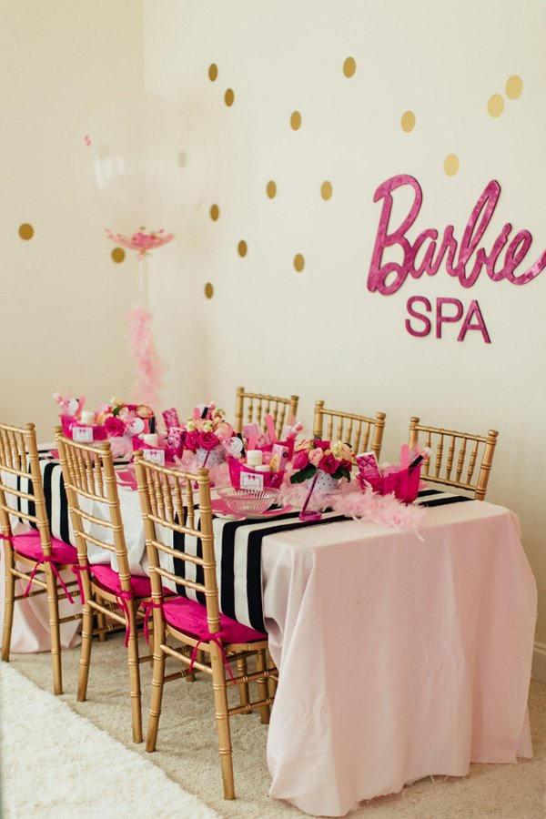 barbie spa table