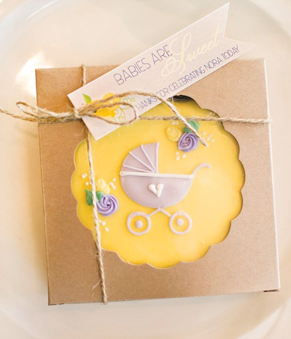 custom carriage cookie baby shower favor