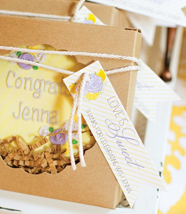 custom cookie bridal shower party favors