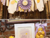 baby shower onesie garland