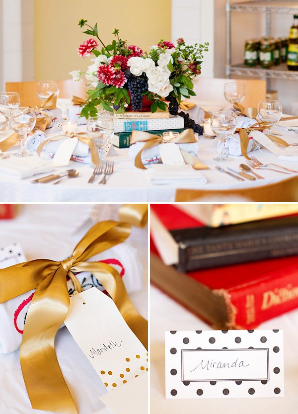adult cooking party tablescape