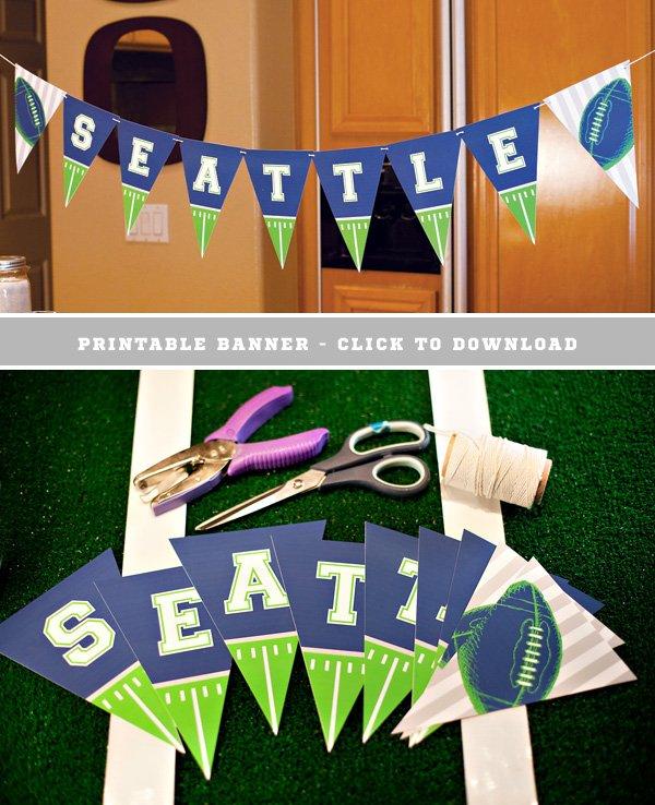 Free Printable Seattle Football Banner