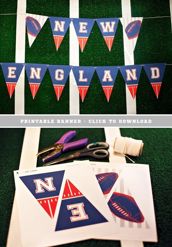 Free Printable New England Football Banner