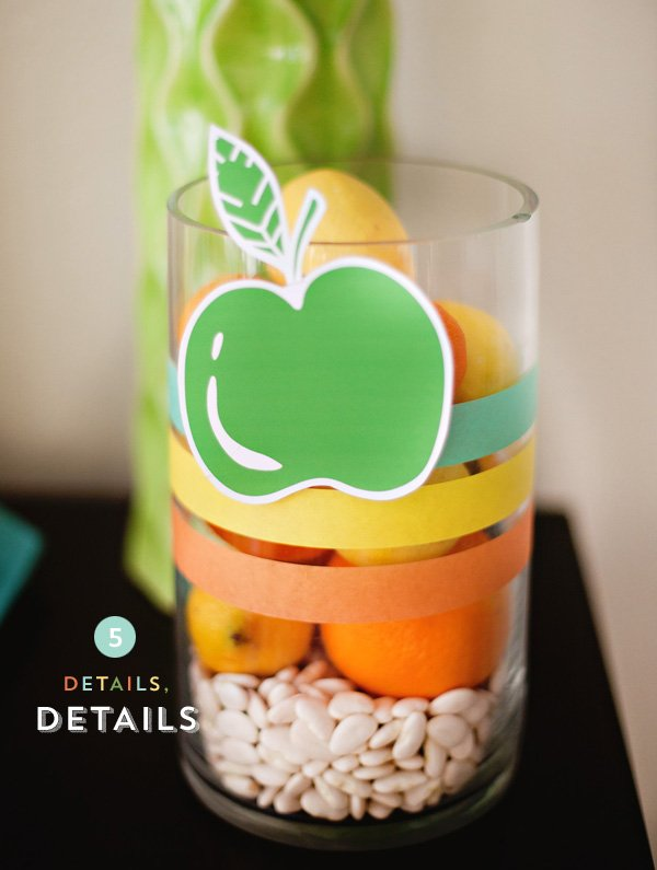 Modern Kitchen Centerpiece Idea - Orange Yellow Green