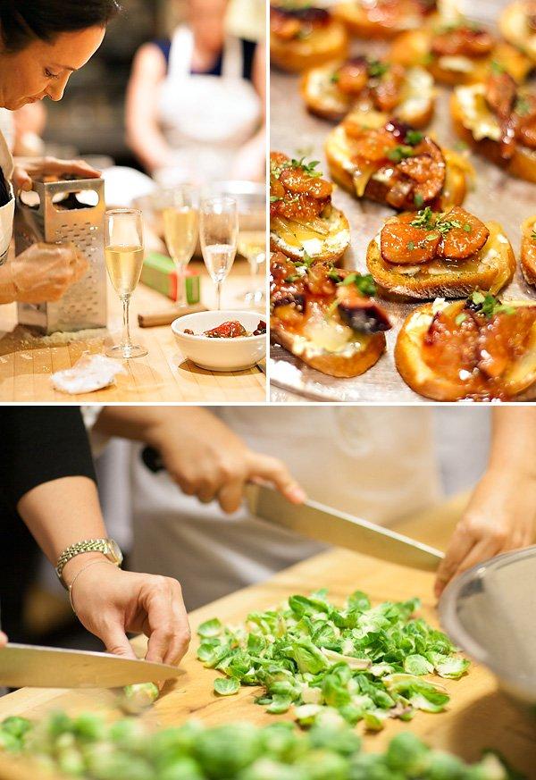 milestone birthday cooking school party
