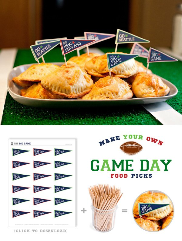 Free Printable Game Day Food Toppers