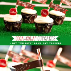 Coca-Cola Cupcakes for Game Day