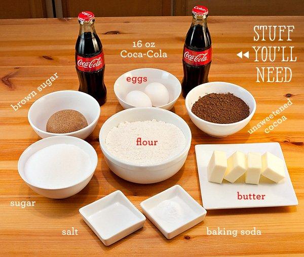 coca-cola cupcake ingredients