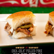 Pulled Pork Sliders Recipe with Coca-Cola BBQ Sauce