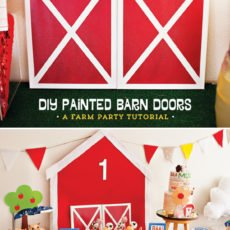 DIY Painted Barn Doors - Farm Party Tutorial