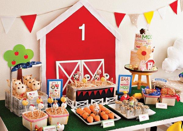 Farm Party Dessert Table