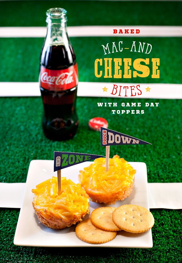 Game Day Menu: Mac-and-Cheese Bites with Cracker Crust