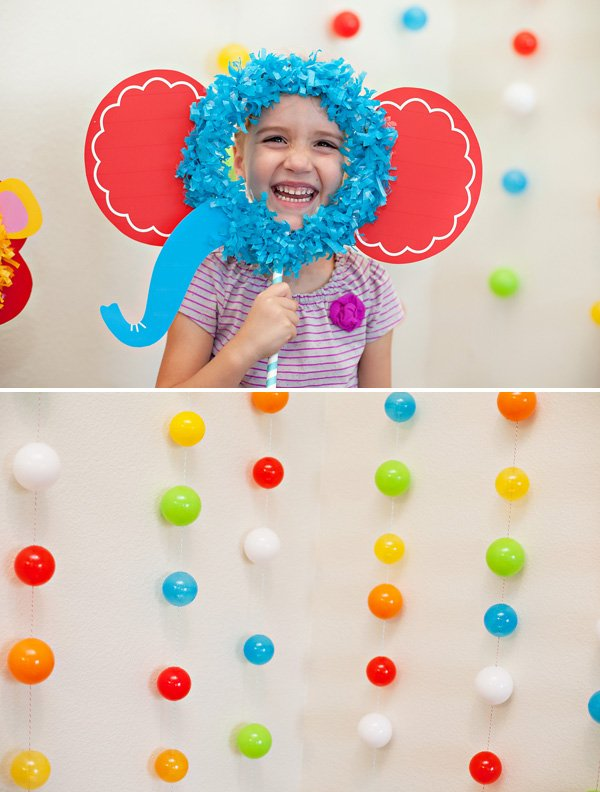 Circus First Birthday Photo Backdrop and Props