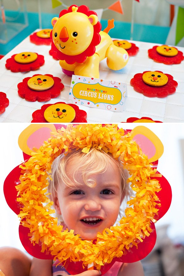 Circus Lion Party Ideas - Cookies and Photo Props