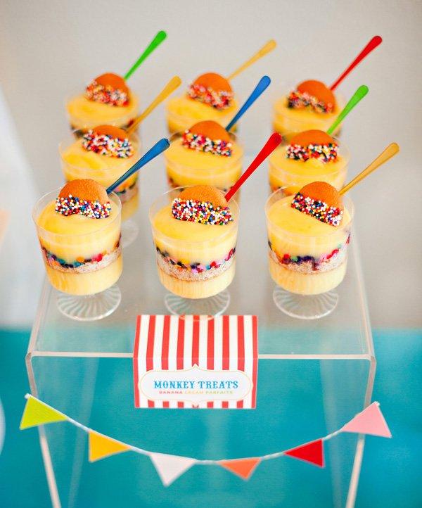 Monkey Parfaits - Circus Party Dessert