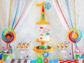 Circus Birthday Party Dessert Table