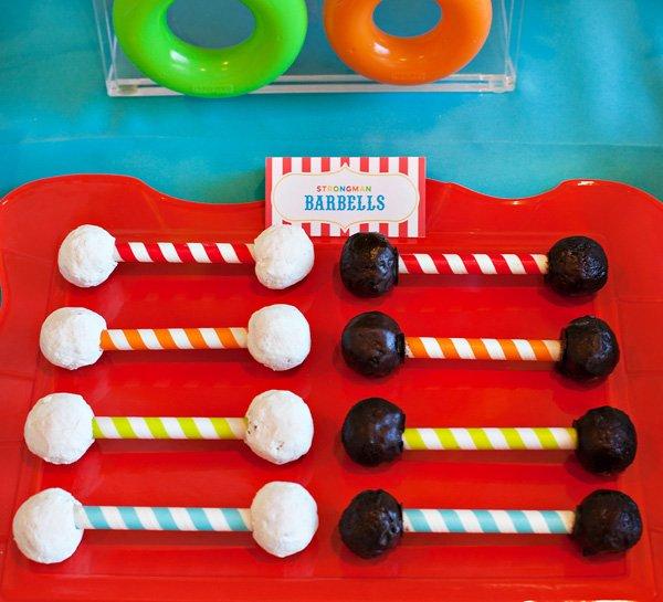 DIY Donut Barbell Circus Treats