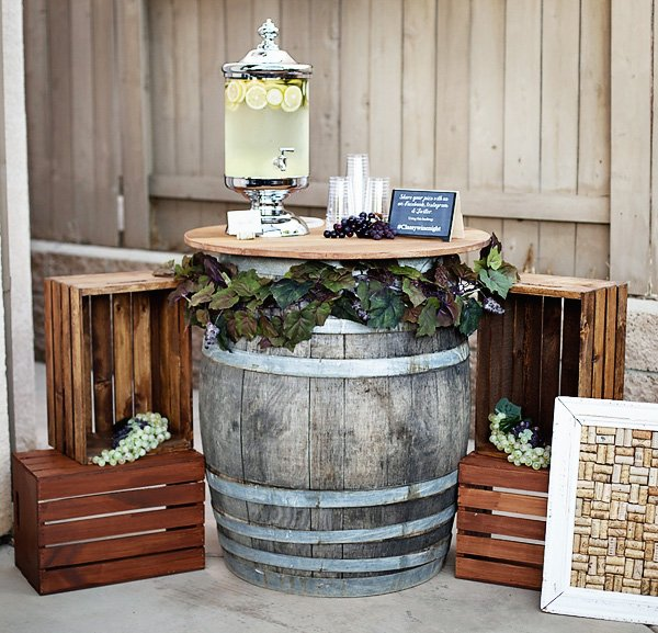 6 Wine Barrel Table Party Drink Station