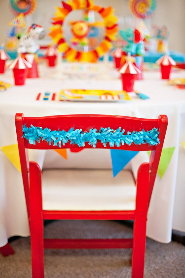 Circus Party Chair Decorations