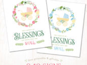 Baby Shower Quote Signs from HWTM - Free Printable