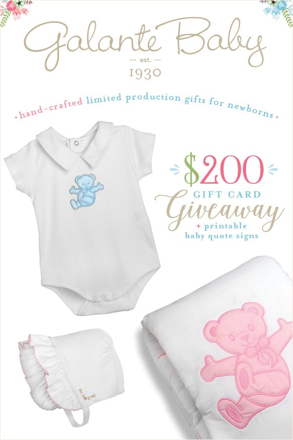 Galante Baby Giveaway from HWTM