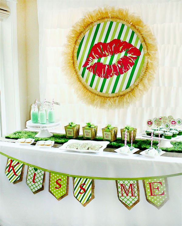 st. patrick's day dessert table