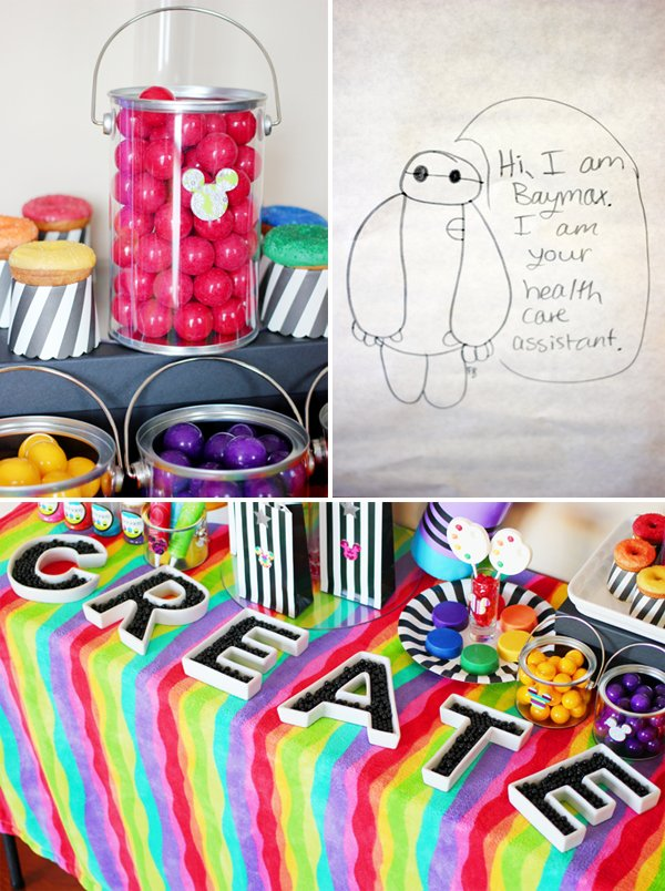 rainbow art table