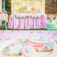 Shabby Chic Pow-Wow Dessert Table and Cookies