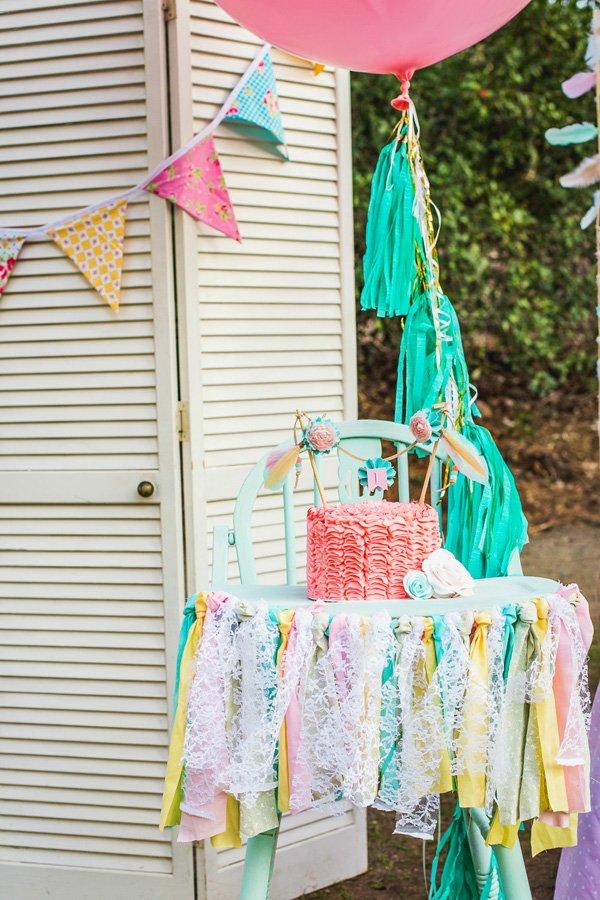 Shabby Chic First Birthday Smash Cake