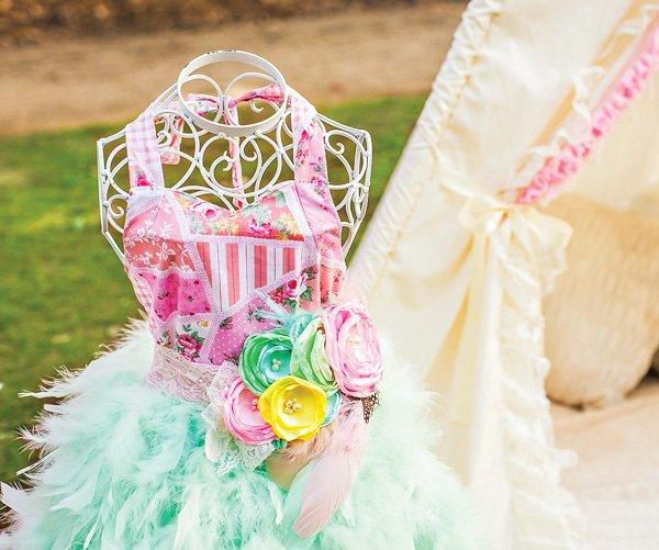 Shabby Feather Tutu Dress