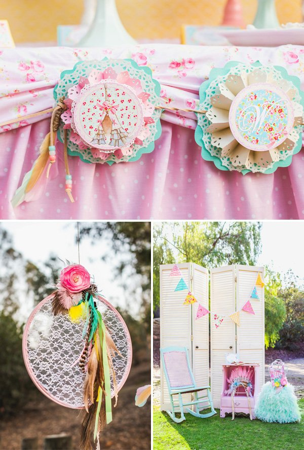 Shabby Chic Dream Catcher and Decorations
