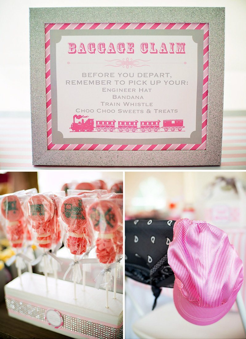 A Girlie & Glam, Train Themed Birthday Party Hostess with the ...