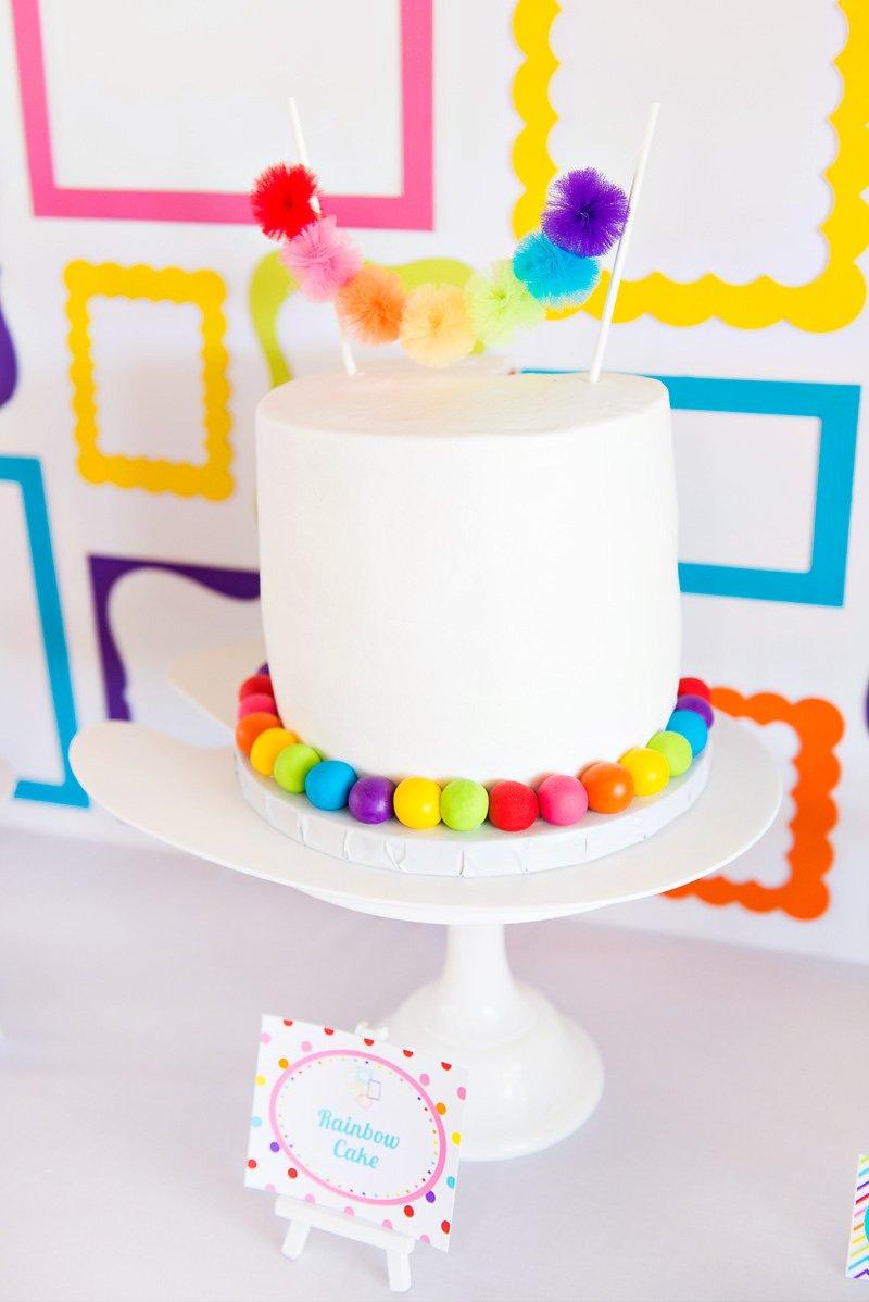 rainbow art birthday party