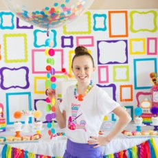 rainbow art birthday party