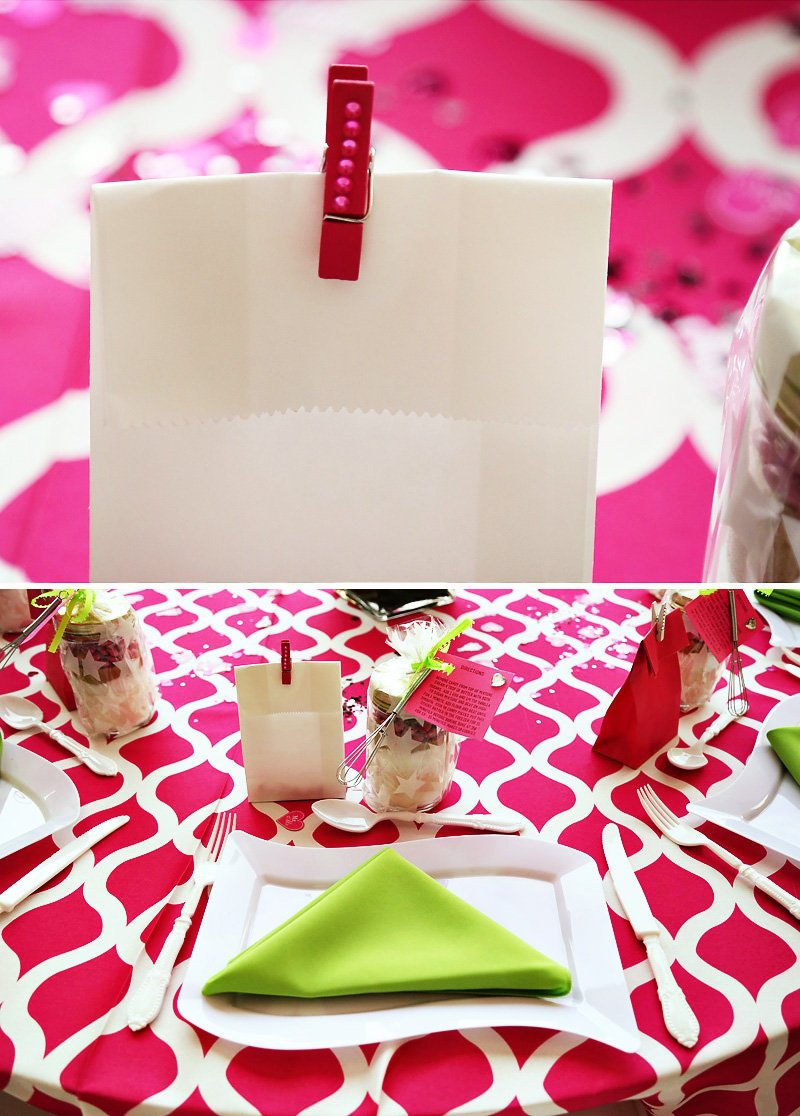 pink kitchen bridal shower