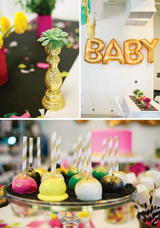 gold glitter party decor ideas