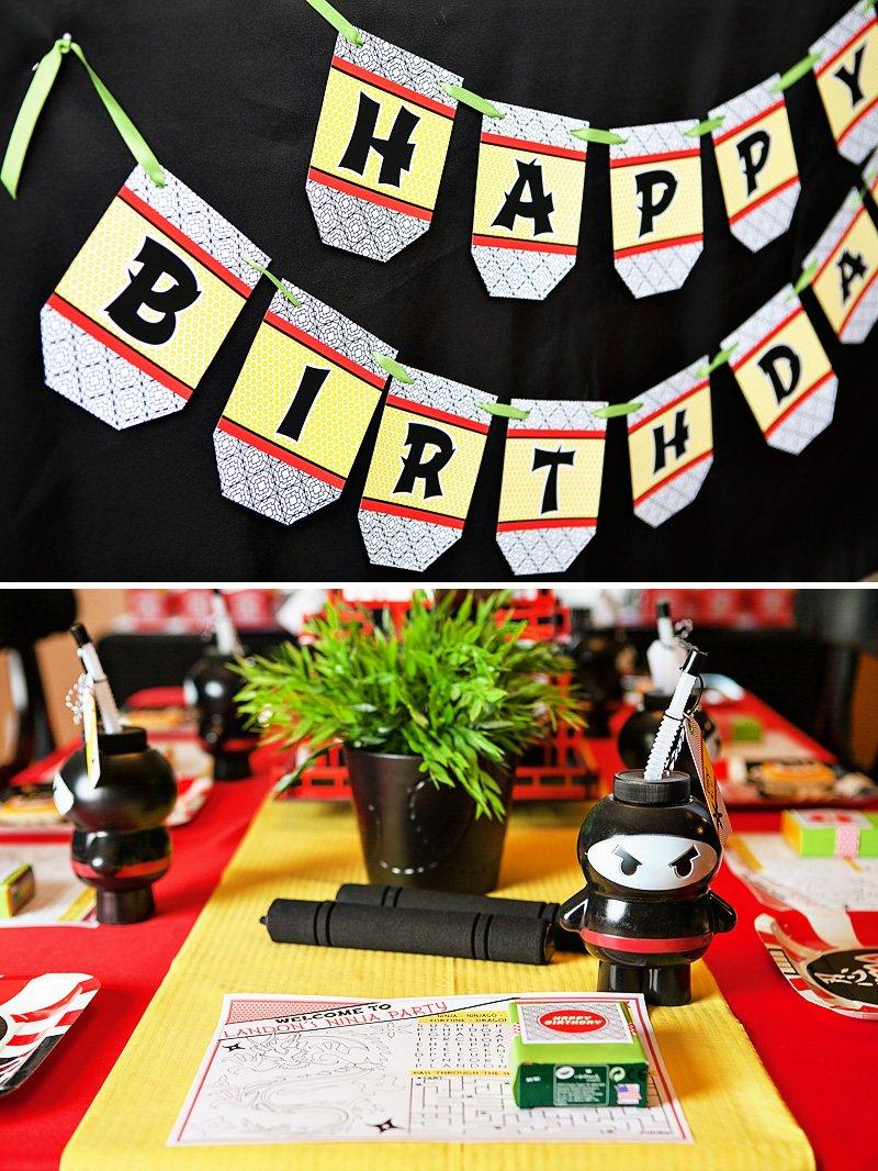 Ninja Themed Party Decor