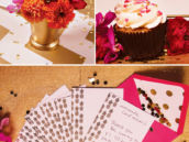 gold foil pineapple stationery