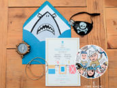 modern pirate party invitation