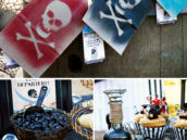 skull favor bags for a pirate party