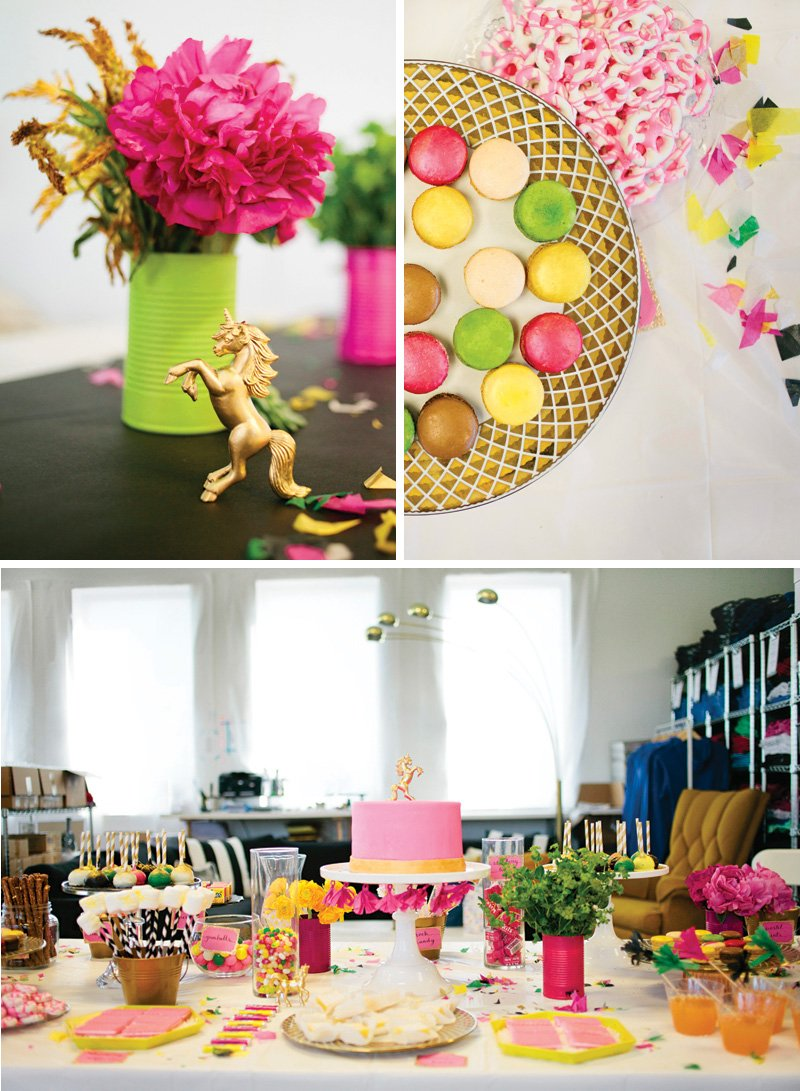 spring baby shower decor and sweets