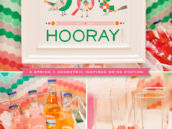 Geometric Party Drink Station + Spring Birds