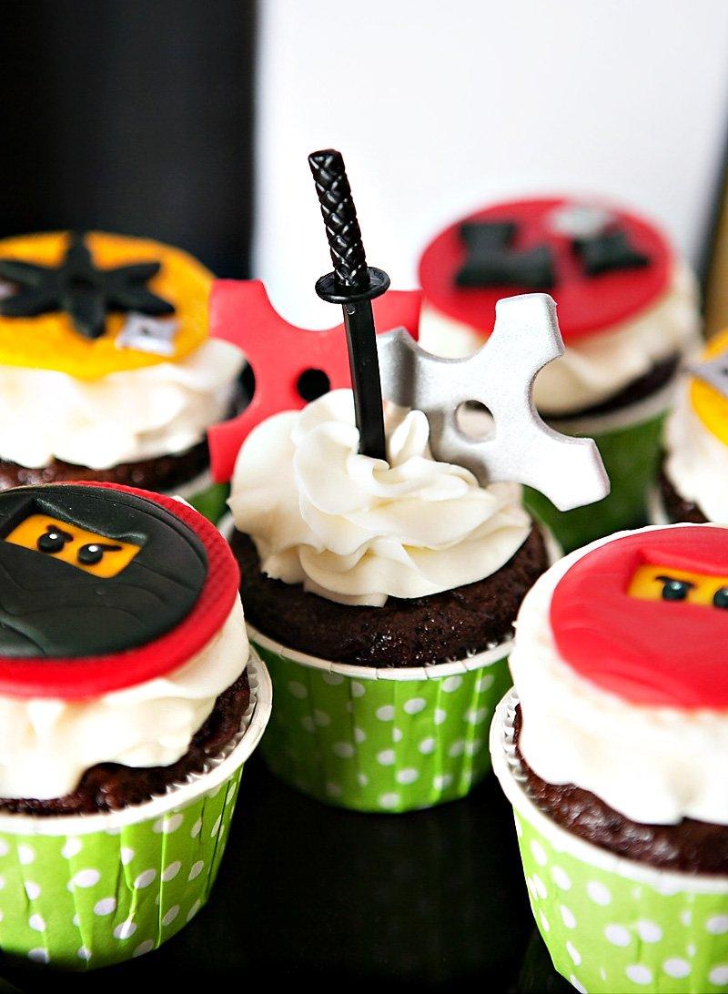 Ninja Theme Cupcakes