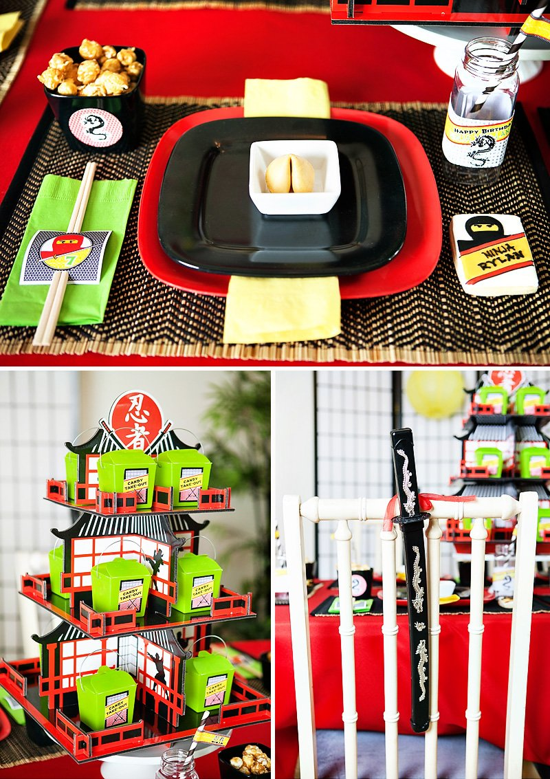 Ninja Party Tablescape
