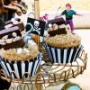 treasure chest cupcakes with a pirate party