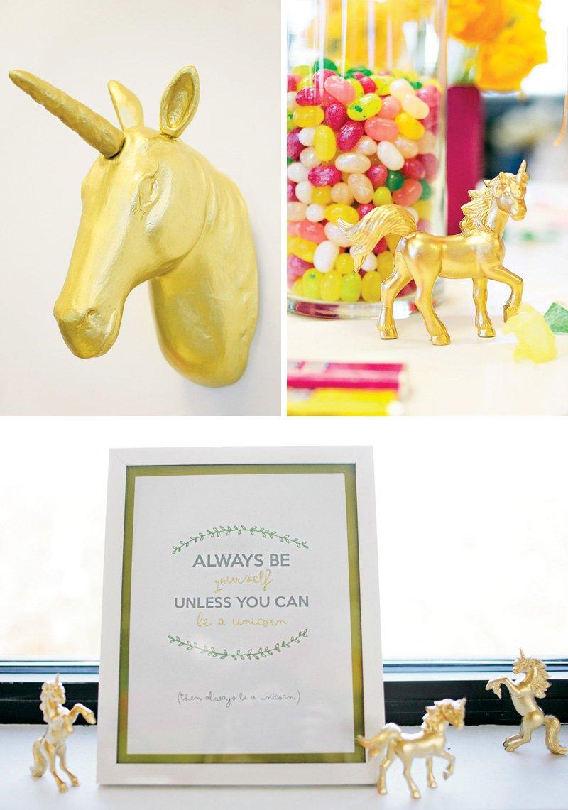 unicorn themed baby shower ideas