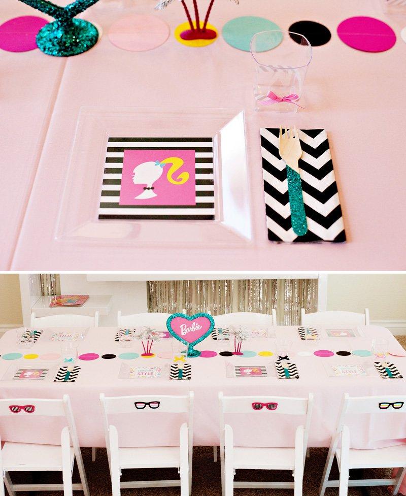 Malibu Barbie Table and Place Settings