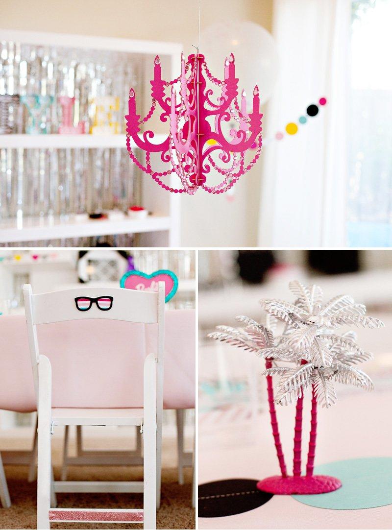 Barbie Party DIY Chandelier