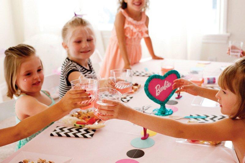 Barbie Party Kids Table Fun