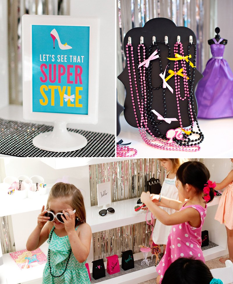 Barbie Party Dress Up Station